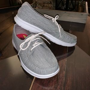 NWOT Grey and White Sketchers